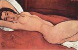 Amadeo Modigliani (Reclining Nude with crossed behind her head poor) Art Poster Print Masterprint