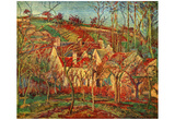 Camille Pissarro (The red roofs) Art Poster Print Prints