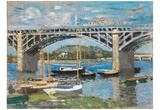 Claude Monet (Bridge at Argenteuil) Art Poster Print Prints