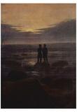 Caspar David Friedrich (Moonrise by the sea, detail) Art Poster Print Posters