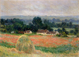Claude Monet (Haystack Near Giverny) Art Poster Print Masterprint