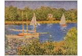 Claude Monet (Sailboats at Argenteuil) Art Poster Print Posters