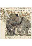 Arab painters around 1295 (Book about the usefulness of the animals of Abu Sa'id 'Ubayd Allah ibn B Prints
