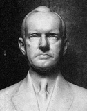 Bust of Calvin Coolidge (Black and White Photo) Art Poster Print Masterprint