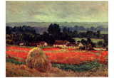Claude Monet (Haystack Near Giverny) Art Poster Print Photo