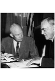 Dwight Eisenhower (With John Foster Dulles, 1956) Poster Prints