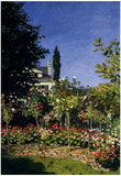 Claude Monet (Flowering Garden at Sainte-Adresse) Art Poster Print Posters