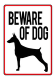 Beware of Dog Sign Art Print Poster Posters