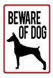 Beware of Dog Sign Art Print Poster Prints