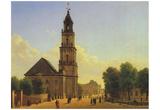Carl Rabbits Pflug (Potsdam Garrison Church and Beam Bridge with views of the city castle) Art Post Prints