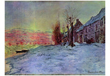 Claude Monet (Lavacourt: sunshine and snow) Art Poster Print Prints