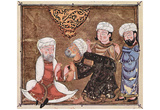 Arab painters around 1335 (Maqamat (assemblies) of the al-Hariri, Scene: Abu Zayd pleads before the Print