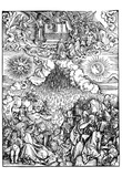 """Albrecht Durer (Illustration for """"Apocalypse,"""" Scene: The opening of the sixth seal) Posters"""