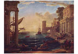 Claude Lorrain (Embarkation of the Queen of Sheba) Art Poster Print Photo