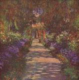 Claude Monet (Gartenweg) Art Poster Print Masterprint