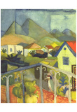 August Macke (St. Germain at Tunis) Art Poster Print Posters
