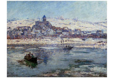 Claude Monet (Vetheuil, Winter) Art Poster Print Posters