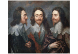 Anthony van Dyck (Portrait of Charles I, King of England) Art Poster Print Posters
