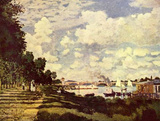 Claude Monet (His dam at Argenteuil) Art Poster Print Masterprint