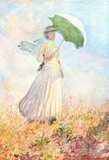 Claude Monet (Lady with a Parasol, study) Art Poster Print Masterprint