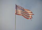 American Flag (Ragged) Art Poster Print Masterprint