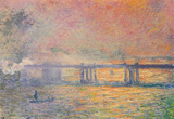 Claude Monet (Charing Cross Bridge) Art Poster Print Masterprint