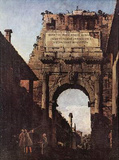 Canaletto (I) (Titus Arch in Rome) Art Poster Print Masterprint