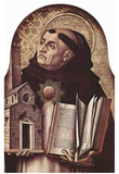 Carlo Crivelli (Altar of San Domenico at Ascoli, polyptych, left outer plate essay: St. Thomas Aqui Posters