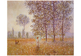 Claude Monet (Poplars in Sunlight) Art Poster Print Posters