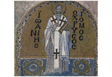 Byzantine Mosaizist of the 9th Century (Mosaics in the Hagia Sophia, Szene: St. John Chrysostom, Ar Posters