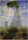 Claude Monet (Woman with a Parasol, 1875) Art Poster Print Prints