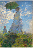 Claude Monet (Camille Monet and son Jean on the hill) Art Poster Print Posters
