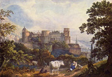 Carl Philipp Fohr (The Heidelberg Castle) Art Poster Print Masterprint