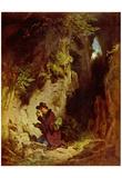 Carl Spitzweg (The geologist) Art Poster Print - Poster