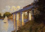 Claude Monet (The Railway Bridge at Argenteuil) Art Poster Print Masterprint