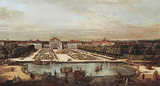 Canaletto (I) (View of Munich, Schloss Nymphenburg, from the west) Art Poster Print Masterprint