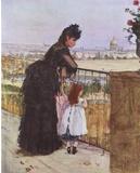 Berthe Morisot (Balcony) Art Poster Print Masterprint