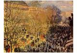 Claude Monet (Boulevard des Capucines in Paris) Art Poster Print Posters