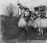 Edgar Germain Hilaire Degas (Dancers on the stage) Art Poster Print Masterprint