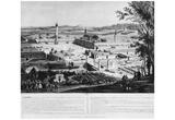 "Charles-François Daubigny (Illustration to Charles Fourier's ""social utopia"", look at a Phalansteri Poster"
