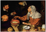 Diego Velazquez (An old woman roasted eggs (The old cook)) Art Poster Print Photo