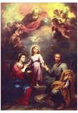 Bartolomé Esteban Perez Murillo (The Trinity) Art Poster Print Prints