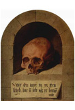 Bartholomew Bruyn d. Ä. (Skull in a niche) Art Poster Print Posters