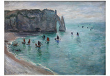 Claude Monet (The Cliffs at Etretat) Art Poster Print Prints