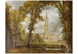 John Constable (The cathedral of Salisbury from the garden of the Bishop of view) Art Poster Print Posters