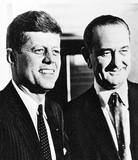 John F Kennedy (With Lyndon B Johnson) Art Poster Print Masterprint