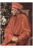 Jacopo Pontormo (Portrait of Cosimo il Vecchio de 'Medici) Art Poster Print Poster