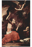 José de Ribera (The St. Jerome and the Archangel of Judgment, Michael) Art Poster Print Poster