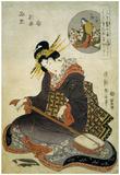 Kikukawa Eizan (Representation of Ono-no-Komachi) Art Poster Print Posters