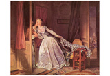 Jean-Honoré Fragonard (The secret kiss) Art Poster Print Posters